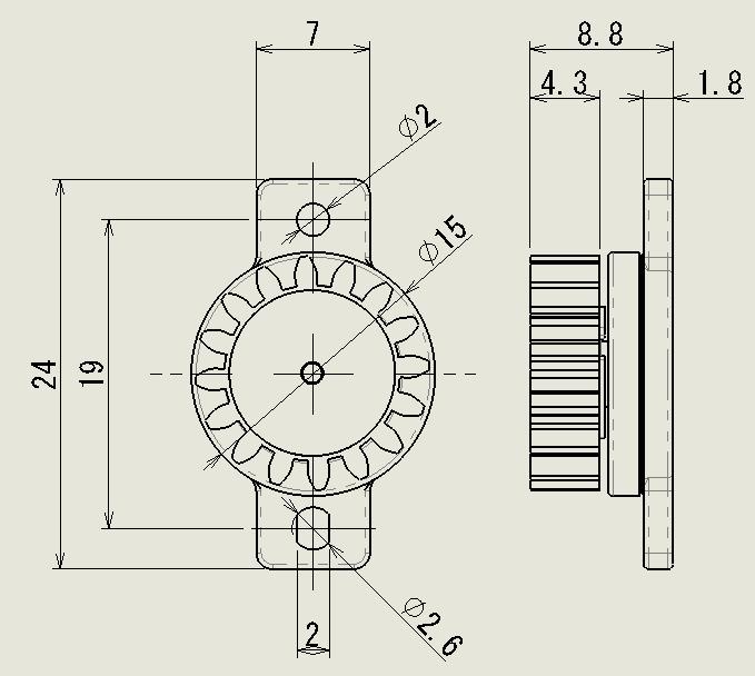 フラット M2型の図面