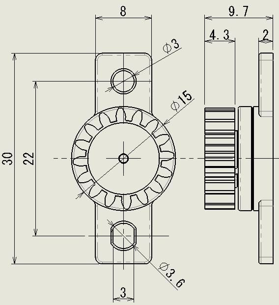 フラット M3型の図面