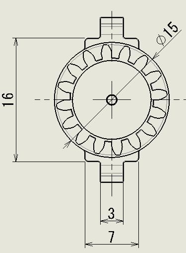 スナップフィット型の図面1
