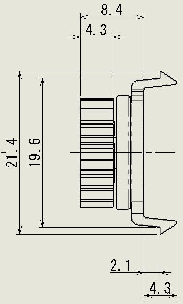 スナップフィット型の図面2